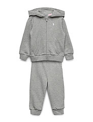 French Terry Hoodie & Pant Set - LIGHT GREY HEATHE