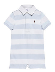 Striped Cotton Rugby Shortall - BERYL BLUE MULTI