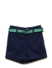 STRTCH TISSUE CHINO-BELTED SHORT-BT - NEWPORT NAVY