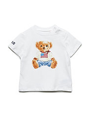 30/1 BASIC JERSEY-BEAR TEE-TP-TSH - WHITE
