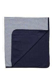 Print Cotton Blanket - NAVY MULTI