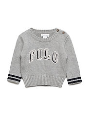 Polo Cotton Crewneck Sweater - ANDOVER HEATHER
