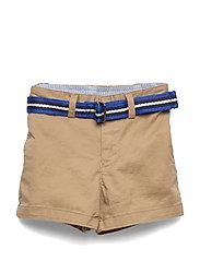Belted Cotton Chino Short - CLASSIC KHAKI