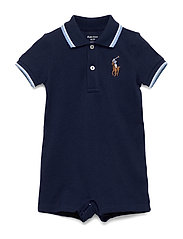 Cotton Mesh Polo Shortall - NEWPORT NAVY