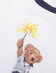 Ralph Lauren Baby - Sparkler Bear Cotton Shortall - kortærmede - white - 2