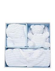Ralph Lauren Baby - Velour Coverall Gift Set - gavesæt - beryl blue multi - 2
