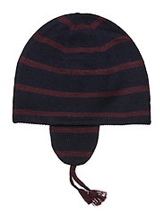 MERINO WOOL-EAR FLAP HAT-AC-HAT - RL NAVY