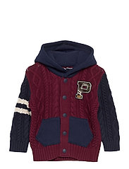 COMBED COTTON-HYBRID HOOD-TP-SWT - CLASSIC WINE MULT