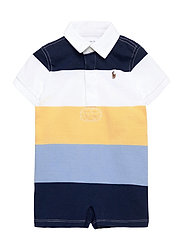 Striped Cotton Rugby Shortall - EMPIRE YELLOW MUL
