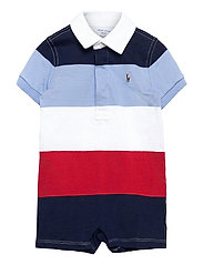 Striped Cotton Rugby Shortall - SUNRISE RED MULTI