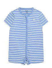 Striped Cotton Jersey Shortall - BLUE LAGOON MULTI