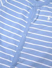 Ralph Lauren Baby - Striped Cotton Jersey Shortall - kurzärmelig - blue lagoon multi - 2