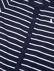Ralph Lauren Baby - Striped Cotton Jersey Shortall - short-sleeved - french navy multi - 2