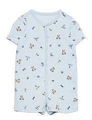 Polo Bear Cotton Interlock Shortall - BLUE MULTI