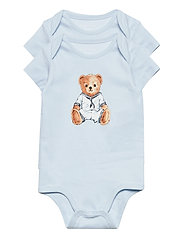 Polo Bear Bodysuit 2-Piece Set - WHITE MULTI