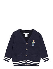Polo Bear Cotton Cardigan - RL NAVY