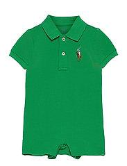 Big Pony Cotton Mesh Polo Shortall - GOLF GREEN