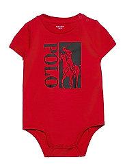 Big Pony Logo Jersey Bodysuit - RL 2000 RED
