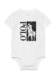 Big Pony Logo Jersey Bodysuit - WHITE