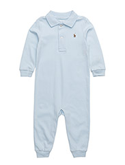 Cotton Interlock Polo Coverall - BERYL BLUE