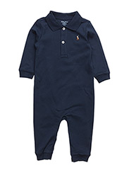 Cotton Interlock Polo Coverall - FRENCH NAVY