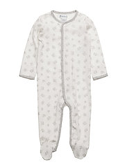 Playtime-Print Cotton Coverall - PAPER WHITE MUL