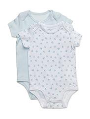 Cotton Bodysuit 2-Piece Set - WHITE MULTI W/P