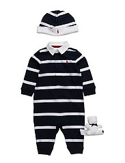 Coverall, Hat, & Bear Gift Set - FRENCH NAVY M