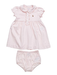 Cotton Polo Dress & Bloomer - DELICATE PINK