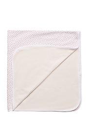 Floral-Print Cotton Blanket - WHITE MULTI FLO