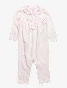 PIMA INTERLOCK-POLO-OP-CVA - long-sleeved - delicate pink