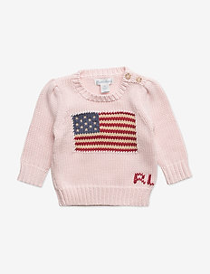Flag Cotton Sweater - FRENCH PINK