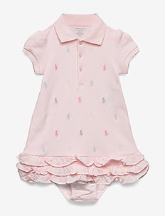 Ruffled Polo Dress & Bloomer - DELICATE PINK