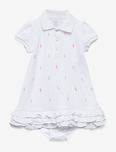 Ruffled Polo Dress & Bloomer - WHITE