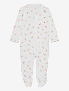 Polo Bear Cotton Coverall - met lange mouwen - white/pink/multi
