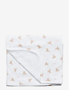 Polo Bear Cotton Blanket - coucher - white/pink/multi