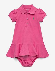 Piqué Polo Dress & Bloomer - BAJA PINK