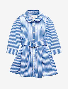 Bengal-Stripe Dress & Bloomer - BLUE/WHITE