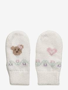 Intarsia Cotton-Wool Mittens - TROPHY CREAM