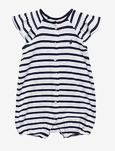 YD JERSEY-STRIPE BUBBL-OP-SHA - WHITE/FRENCH NAVY
