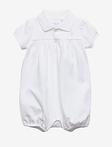 Interlock Bubble Shortall - short-sleeved - white