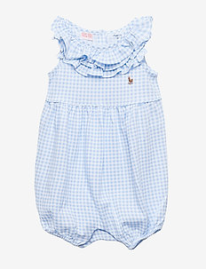 PRINTED TISSUE MESH-GINGHAM BBBL-OP - BLUE/WHITE