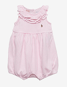 PRINTED TISSUE MESH-GINGHAM BBBL-OP - PINK/WHITE