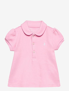 INTERLOCK-POLO SHIRT-TP-KNT - polos - carmel pink/white