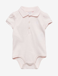 INTERLOCK-POLO BDYSUIT-OP-BDY - lyhythihaiset - delicate pink