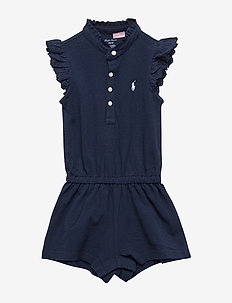 MESH-POLO ROMPER-OP-RMP - FRENCH NAVY