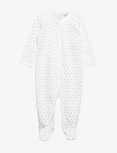 Floral Cotton Coverall - WHITE MULTI