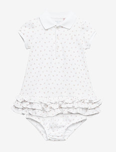 Ruffled Polo Dress & Bloomer - WHITE MULTI