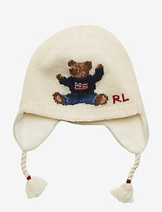 Polo Bear Earflap Hat - CREAM