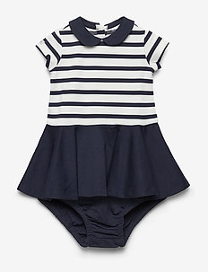 Two-Tone Ponte Dress & Bloomer - HUNTER NAVY-CLUBH